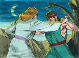 God of Jacob and Jacob Wrestle