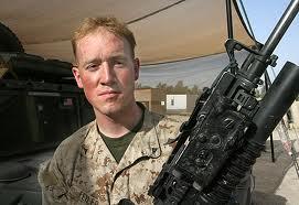 US Marine Receives Christ
